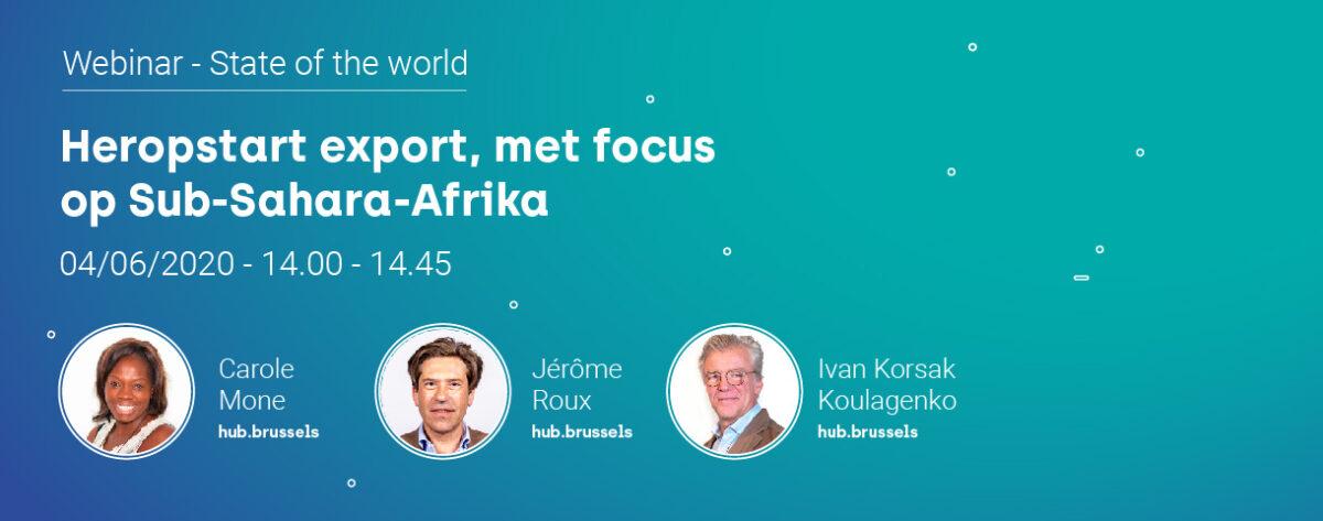 Webinar 'State of the world': exporteren naar Sub-Sahara-Afrika