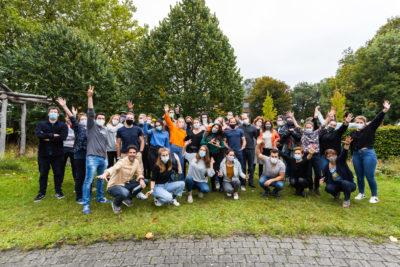 Les 50 participants du rebootcamp 2020 de hub.brussels