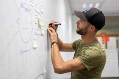 atelier d'idéation lors du rebootcamp 2020 de hub.brussels