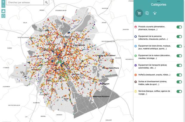 Interactieve kaart voor handelaars :