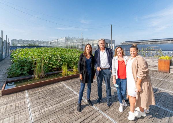 Visite de la ferme aquaponique BIGH avec Isabelle Grippa et le cluster Hospitality
